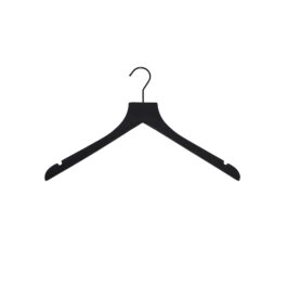 sueded luxe wood top hangers