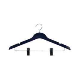 slim plastic hangers with clips - navy hangers