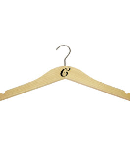 monogram slim wood hangers - natural hangers